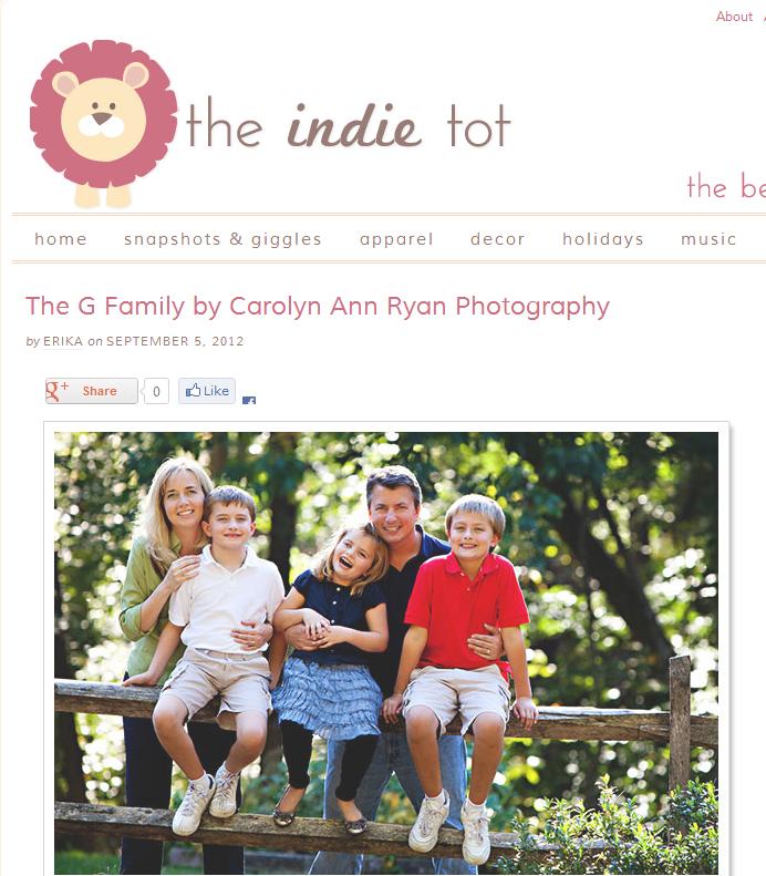 Weddington, North Carolina Family Photographer | PUBLISHED! {THE INDIE TOT}
