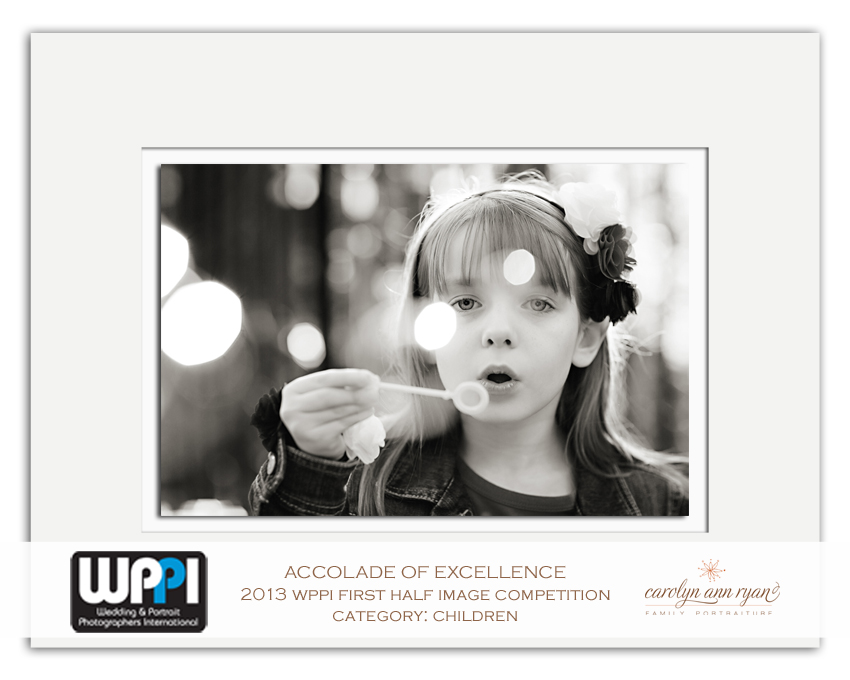 NC Family Photographer, Carolyn Ann Ryan, receives Accolade of Excellence from WPPI