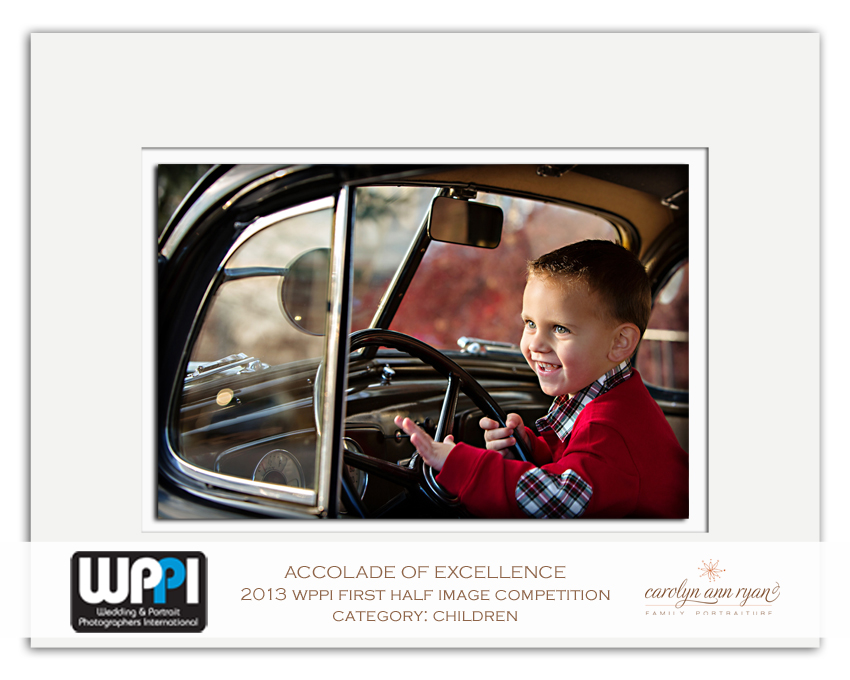North Carolina Child Photographer, Carolyn Ann Ryan, receives Accolade of Excellence from WPPI
