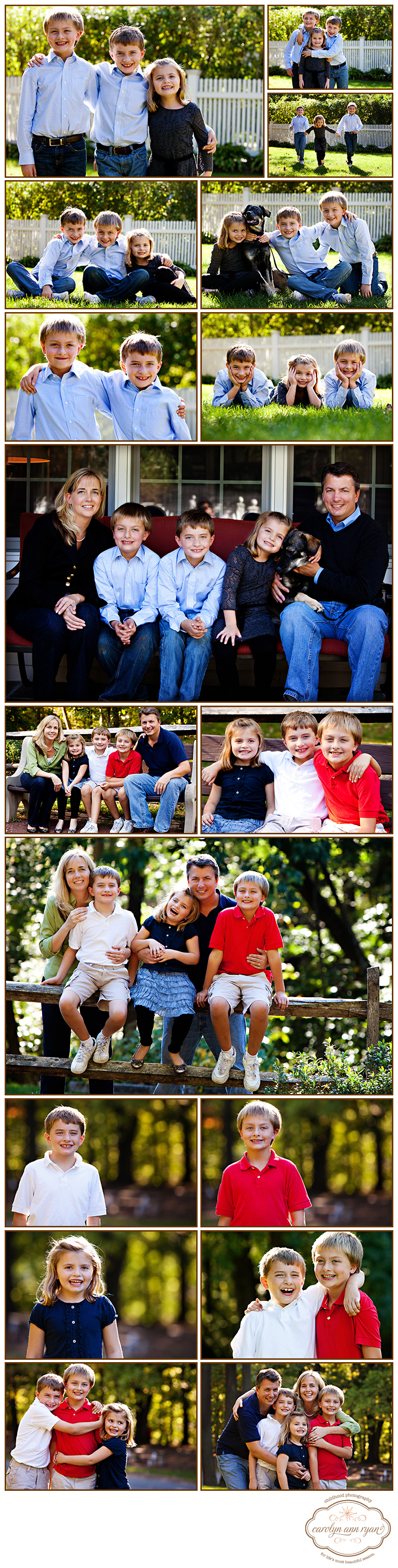 Vibrant Waxhaw, NC Family Portrait Session by family photographer Carolyn Ann Ryan