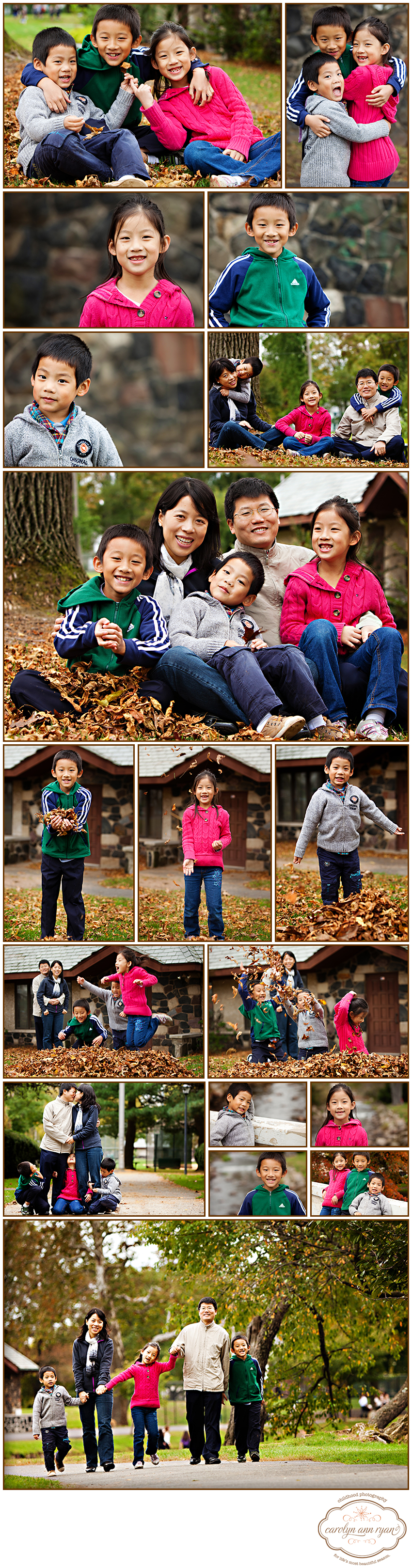 Marvin, NC photographer Carolyn Ann Ryan captures Fall Family portraits
