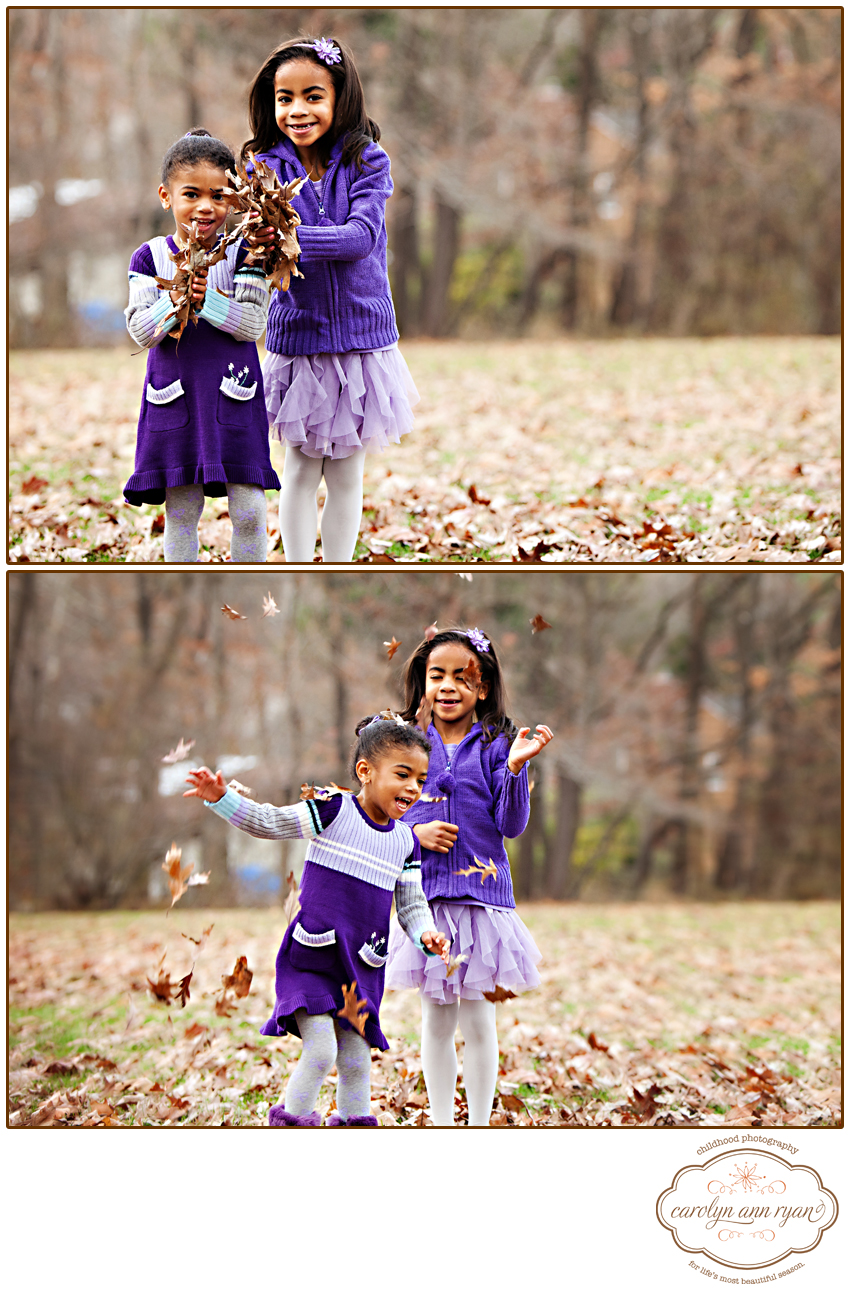 Charlotte, North Carolina Children's Photographer  shares Fall Foliage portraits with children