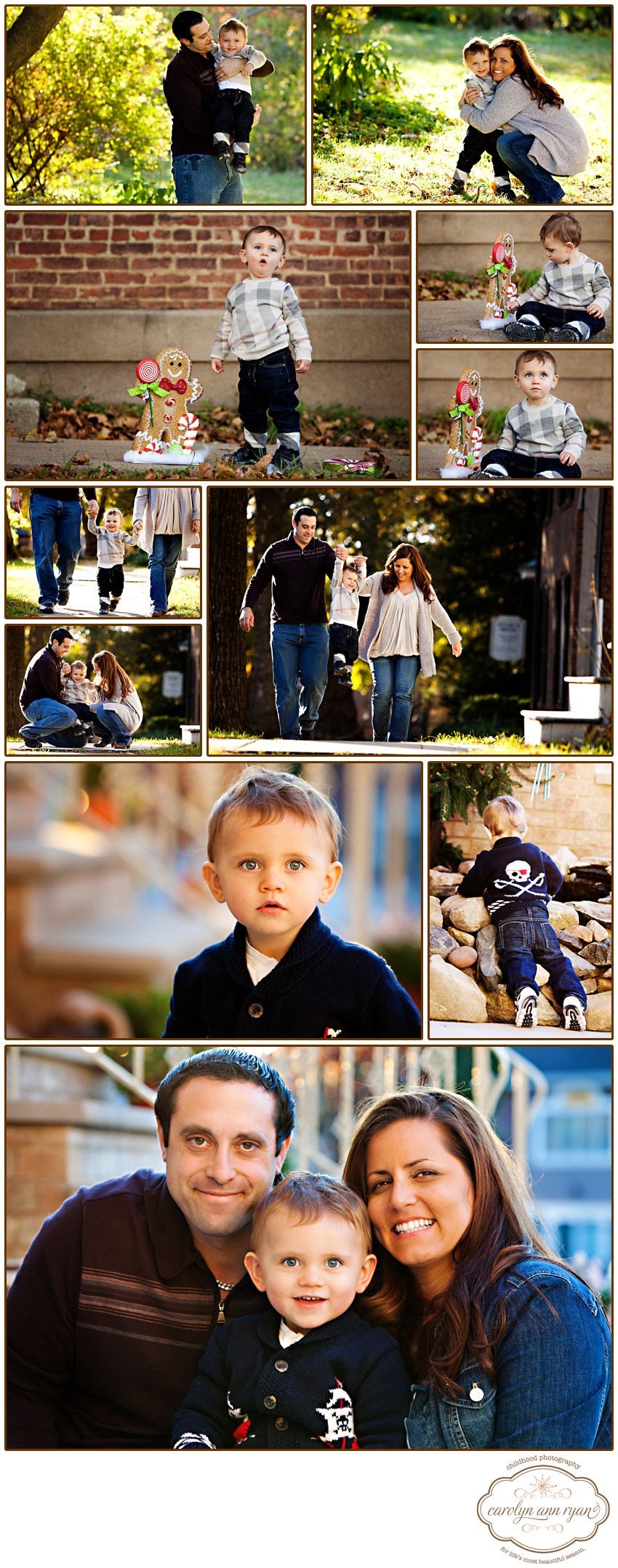 Charlotte, North Carolina Family Photographer Carolyn Ann Ryan photographs sweet family in classic styles