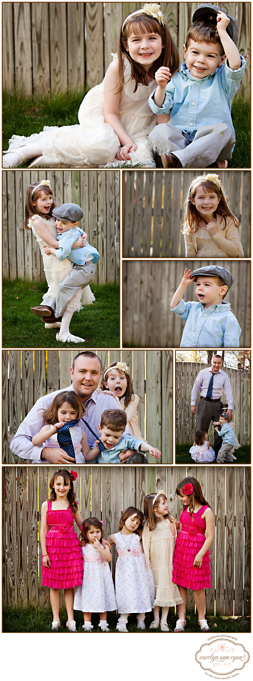 Waxhaw NC Child and Family photographer - backyard shoot