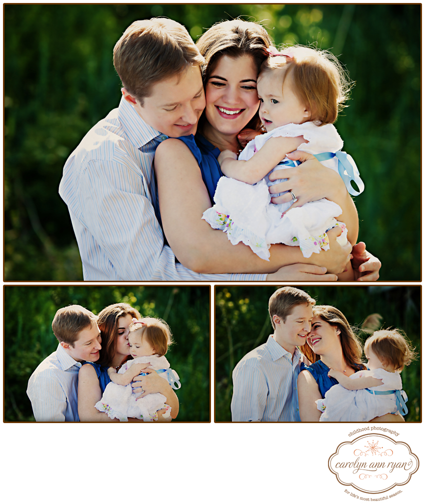 Marvin, NC Child and Family Photographer photographs clients at their home down by the river . . .