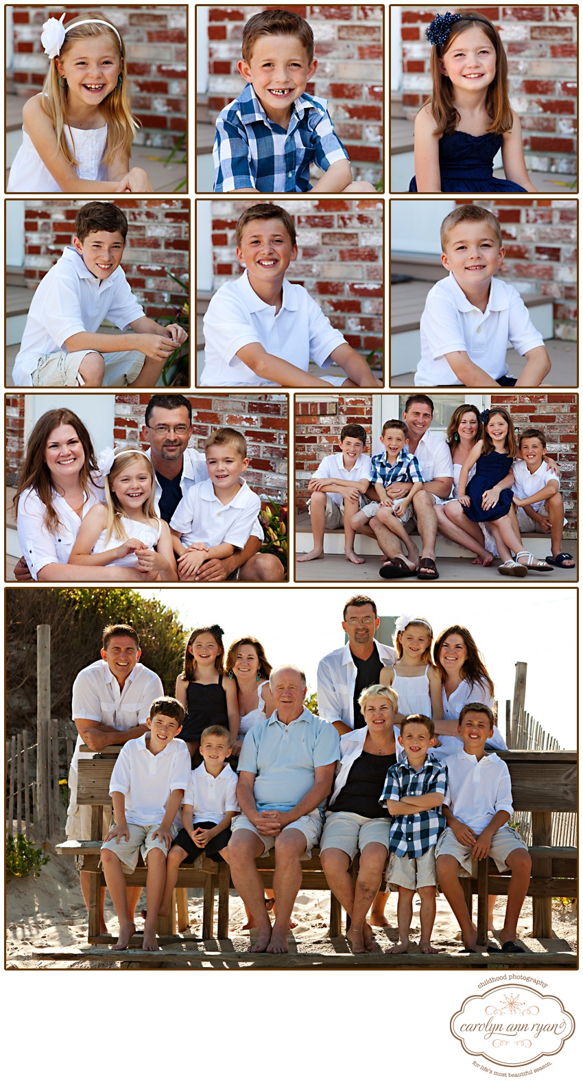 North Carolina Family Photographer Beach Portraits Extended Family
