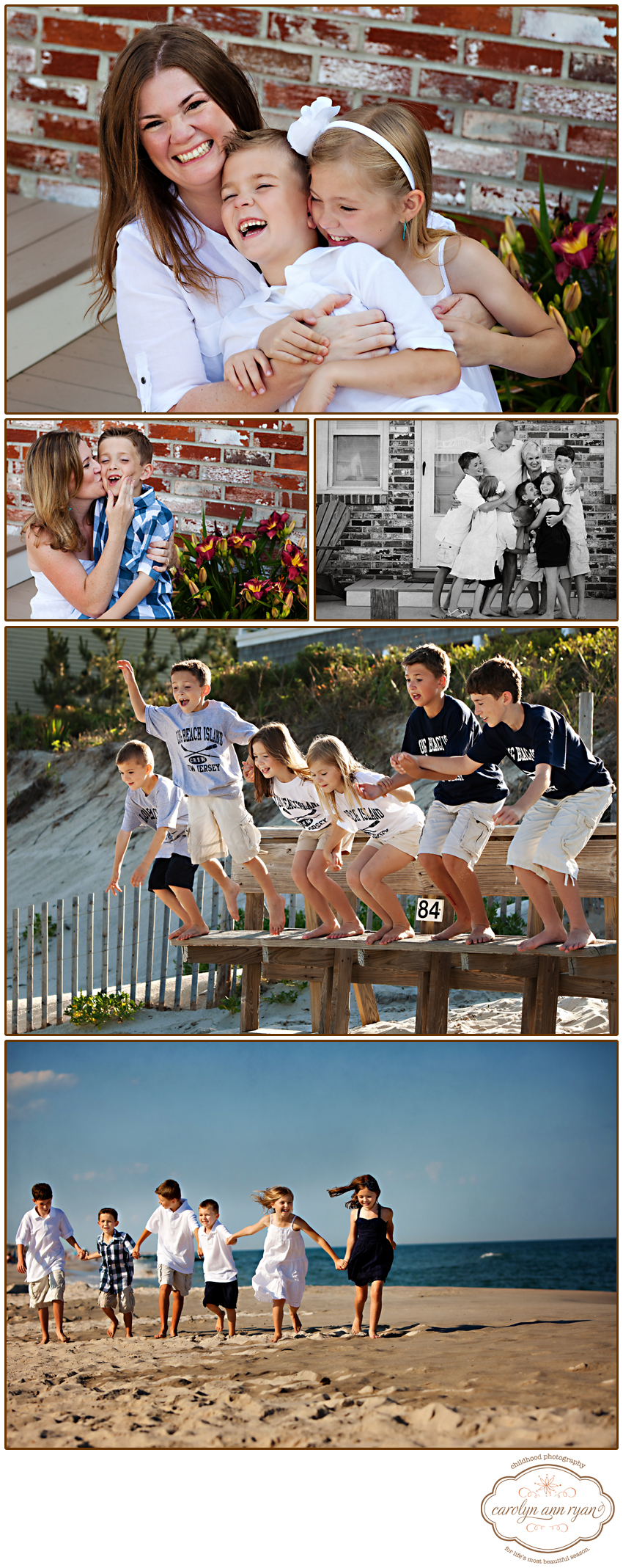 North Carolina Family Photographer Extended Family Portrait Session on the Beach