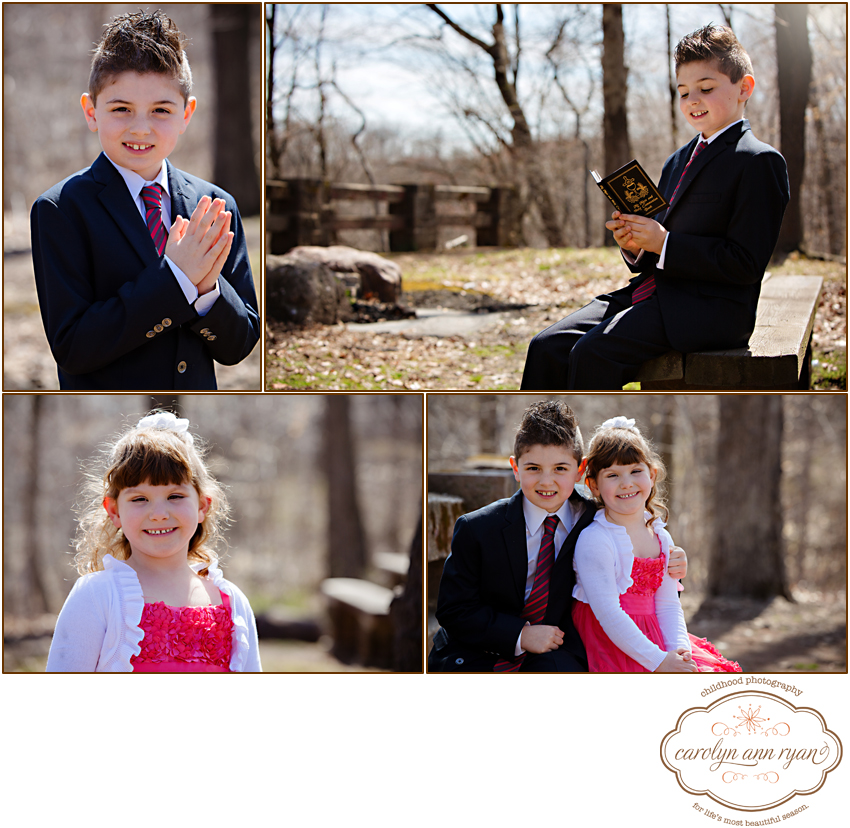 Child Photographer, Carolyn Ann Ryan, photographs Communion Portraits in Charlotte, NC