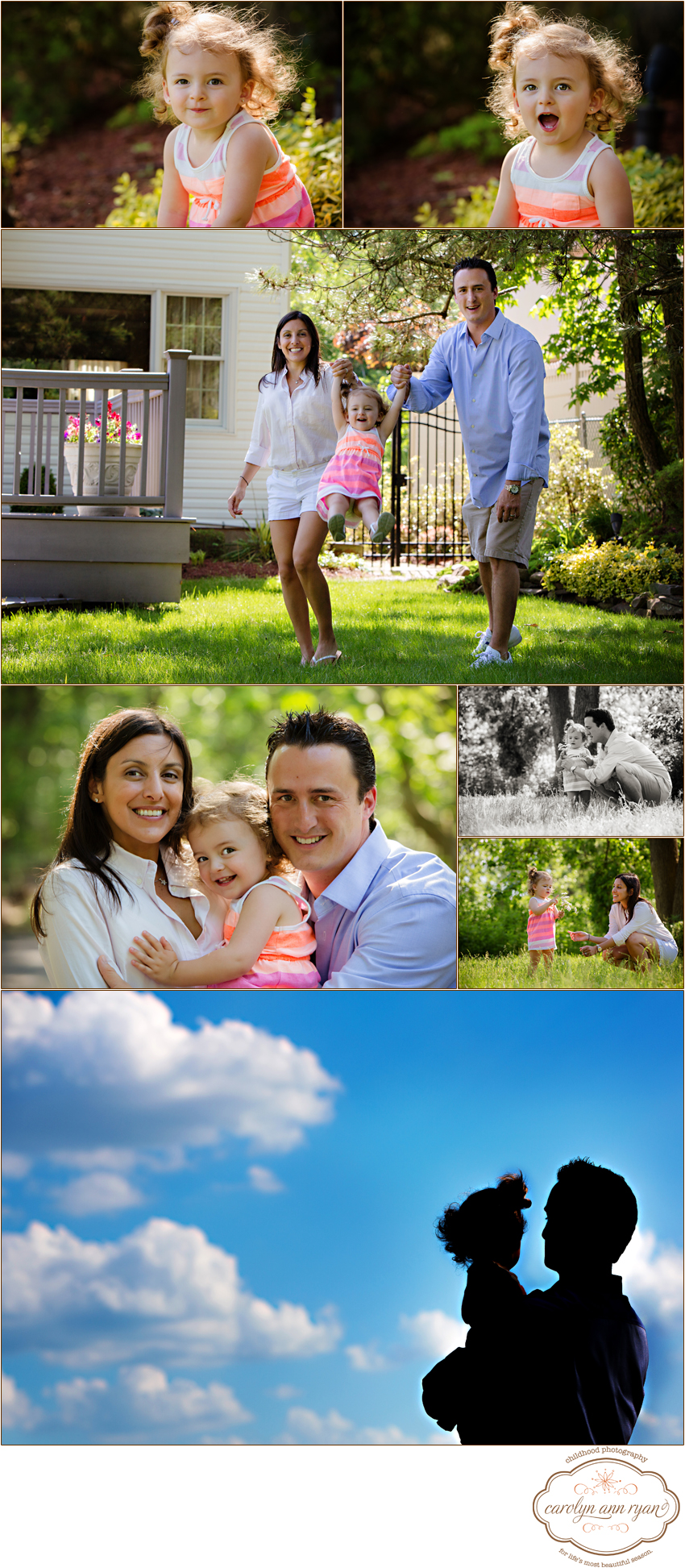 Waxhaw, North Carolina Family Photographer, Carolyn Ann Ryan, photographs a family