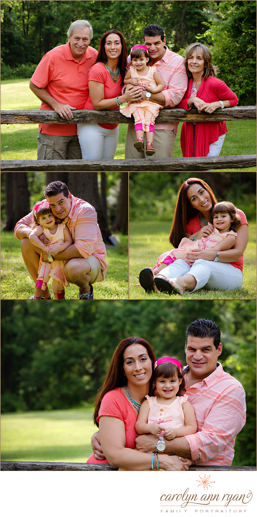 Charlotte, NC Family Photographer, Carolyn Ann Ryan, highlights a portrait session with special family moments