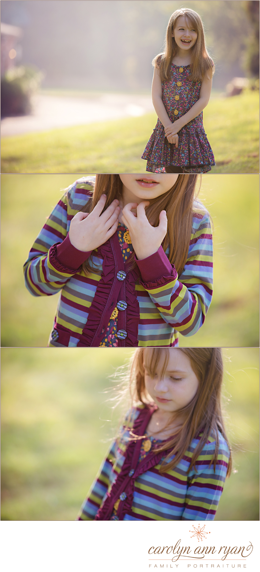 North CarolinaChild Photographer, Carolyn Ann Ryan, photographs child wearing Matilda Jane outfit from the Paint By Numbers Collection