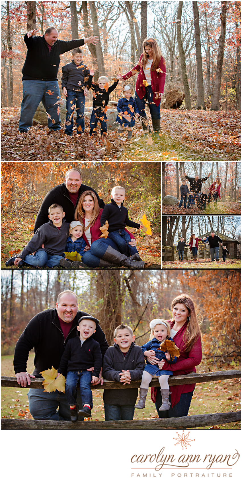 Classic Style for Fall Family Portraits in Charlotte, NC area