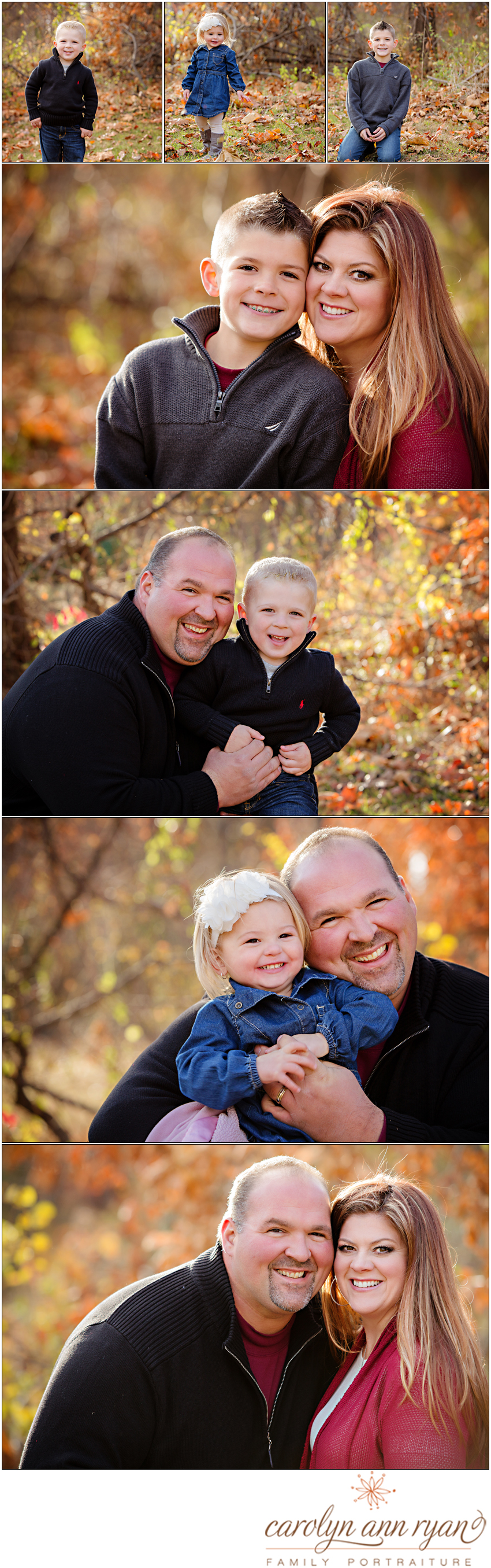 Classic Charlotte, NC Fall Family Portraits by Photographer Carolyn Ann Ryan