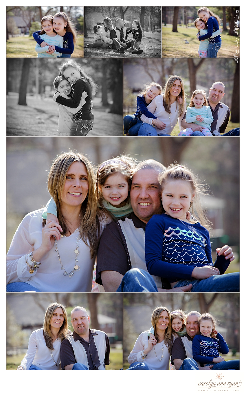 Charlotte, NC Photographer, Carolyn Ann Ryan, photographs family portrait session in Spring