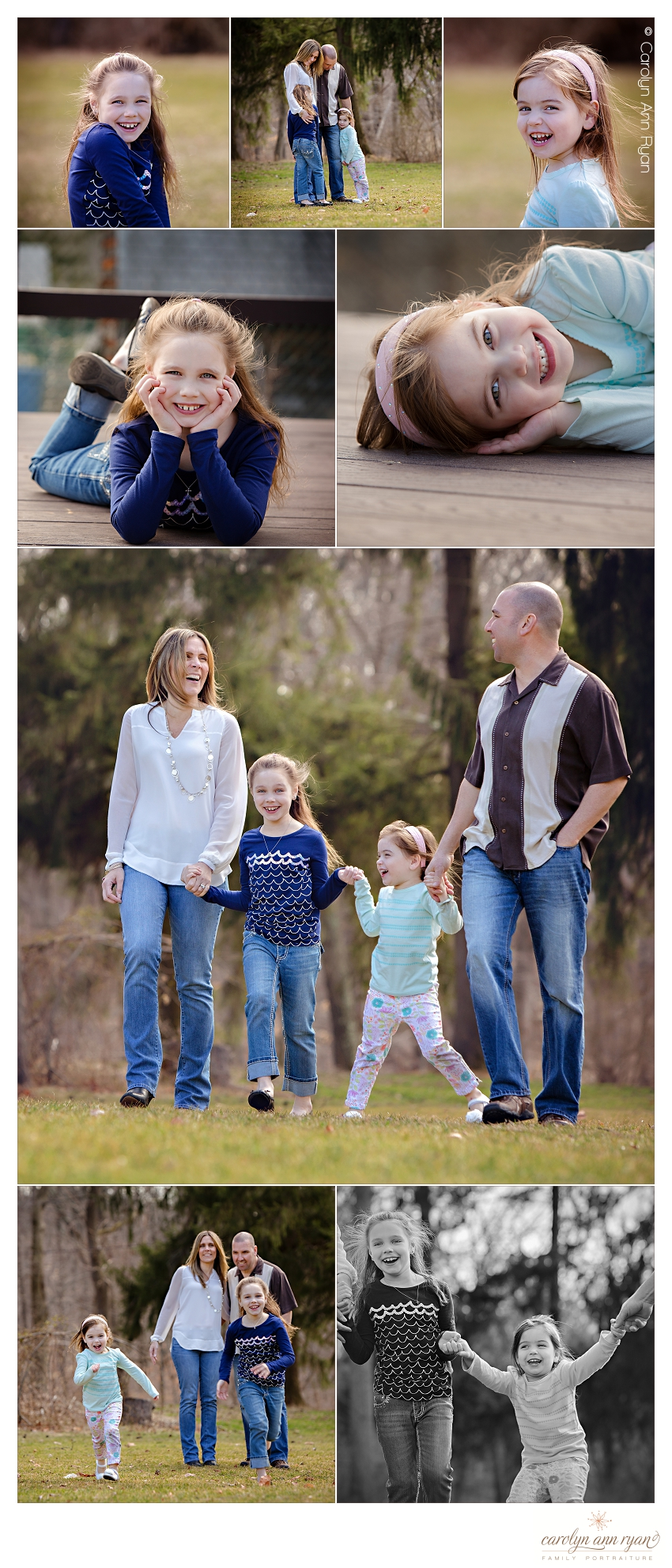 Charlotte NC Child and Family Photographer Carolyn Ann Ryan creates beautiful family portraits