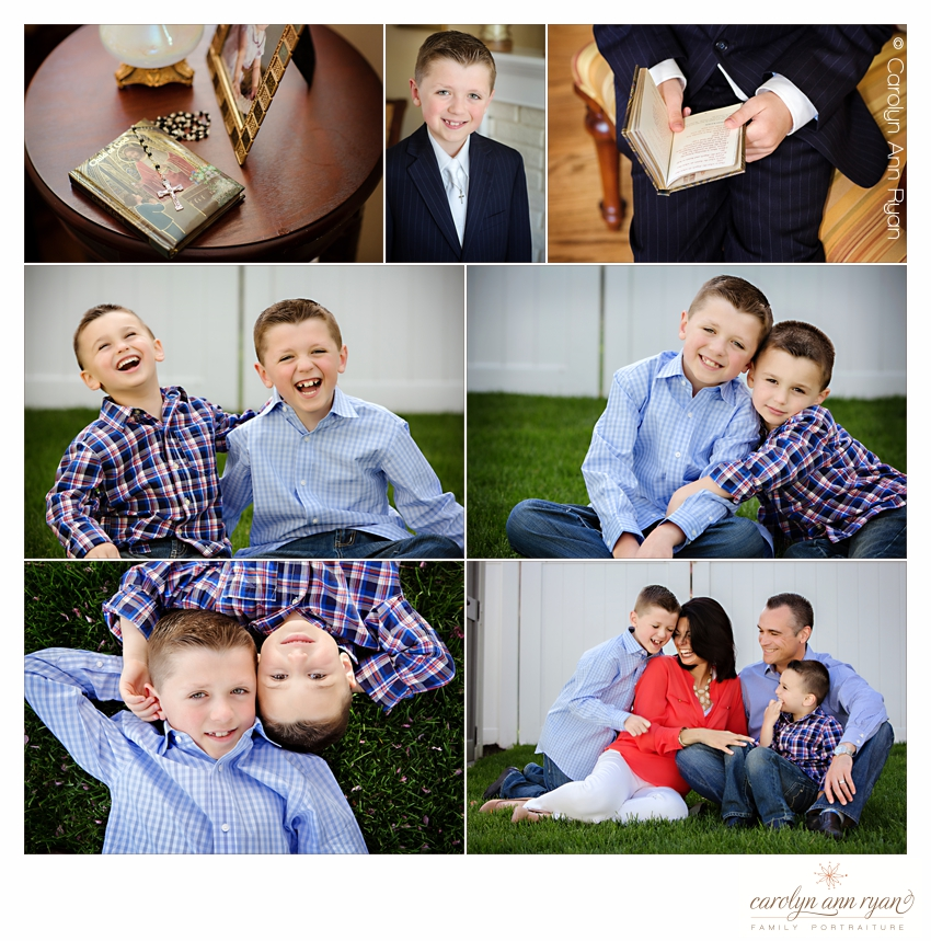 Charlotte NC Family Photographer photographs First Communion Portraits
