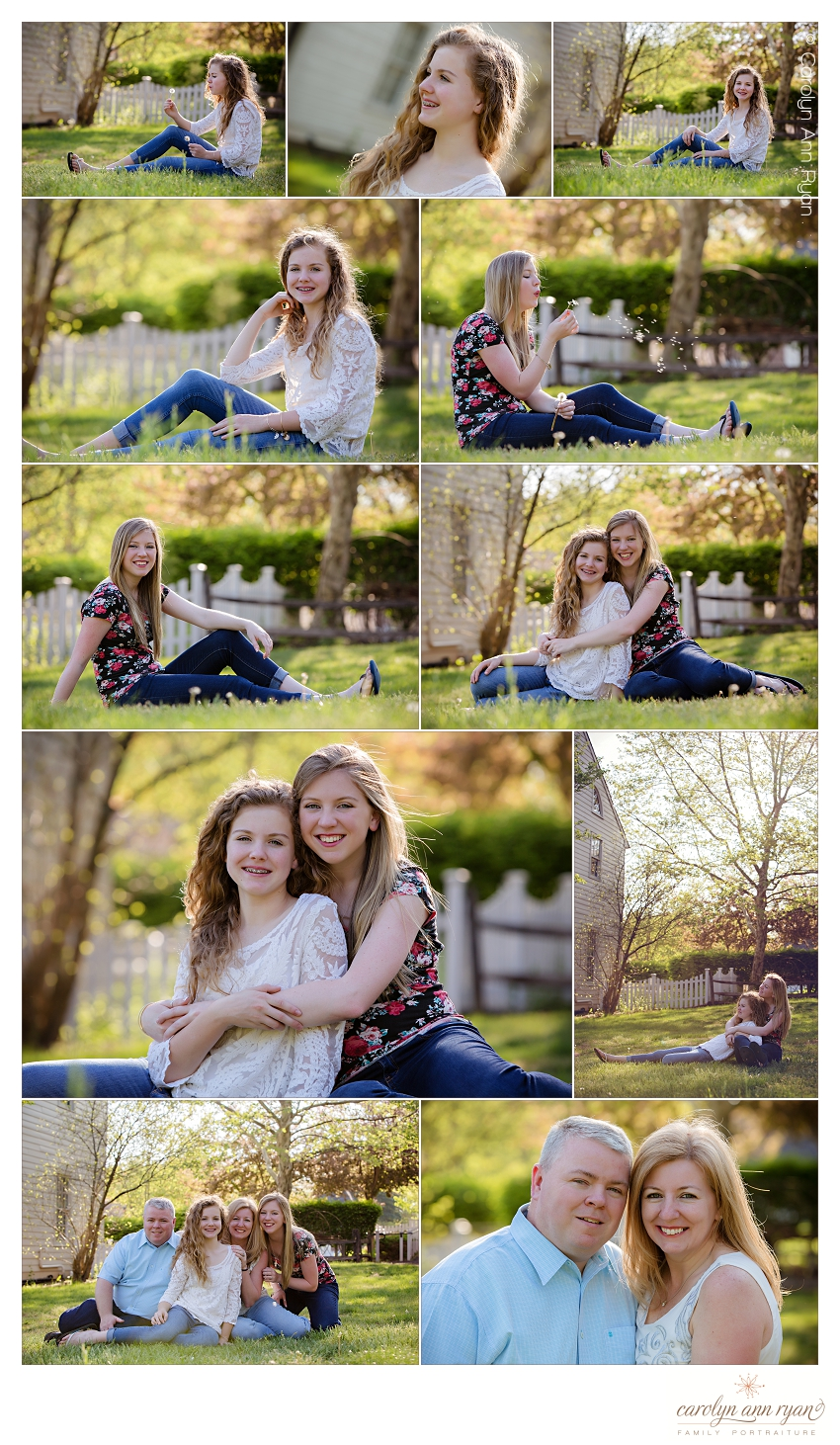 Charlotte North Carolina Family Photographer creates beautiful images of sisters