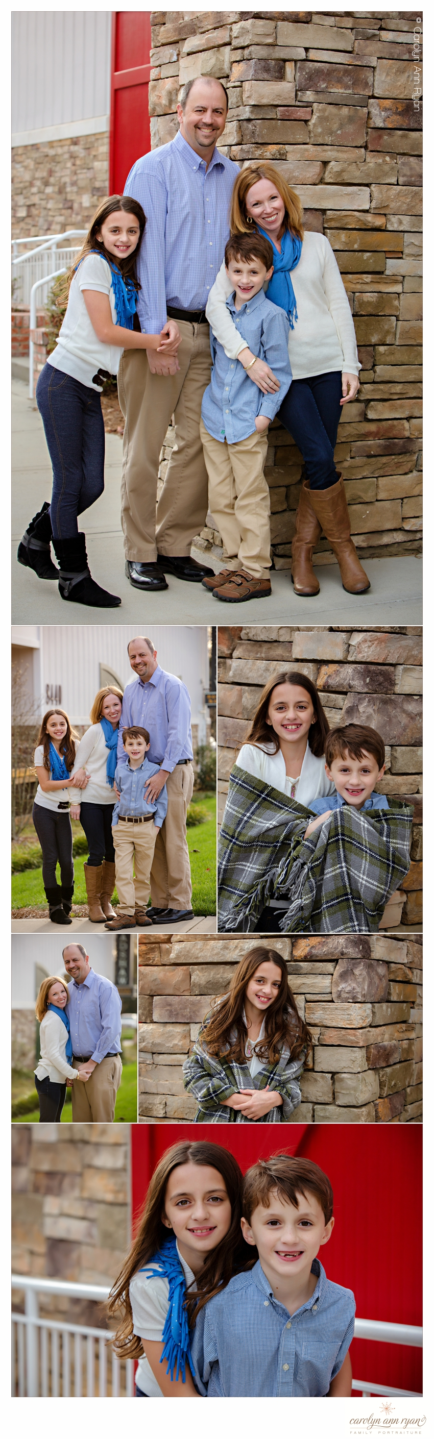 Outfit Suggestions for Family Portraits photographed by Carolyn Ann Ryan in Charlotte, NC