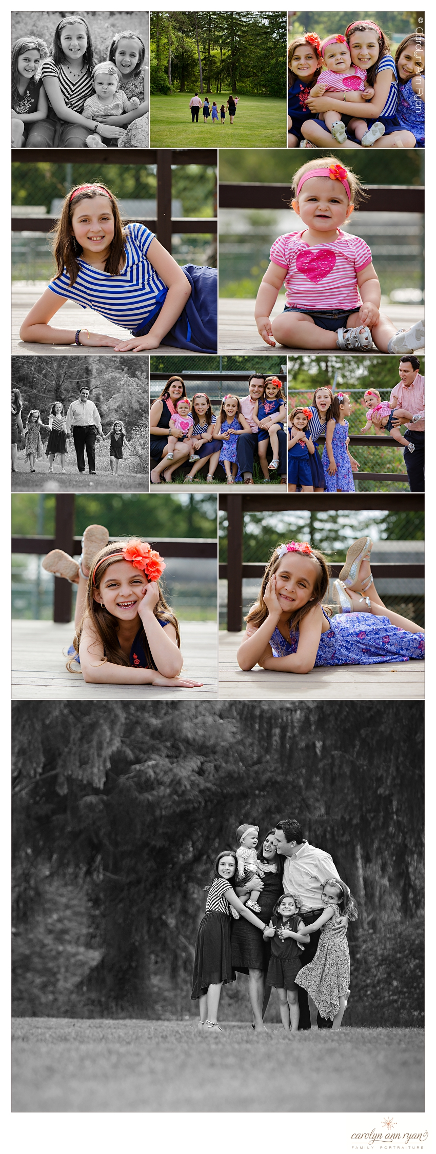 Charlotte NC Family Portrait Photographer creates beautiful portraits in the summer