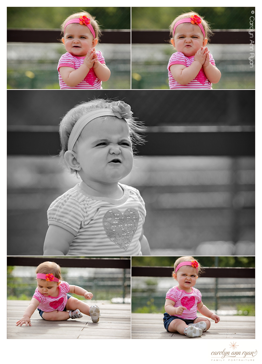 Charlotte NC Photographer Carolyn Ann Ryan photographs one year old during family portrait session