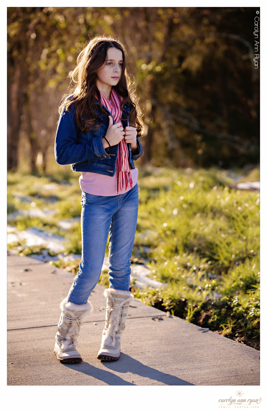 Charlotte NC Tween Portraits styled for Winter and Valentine's Day