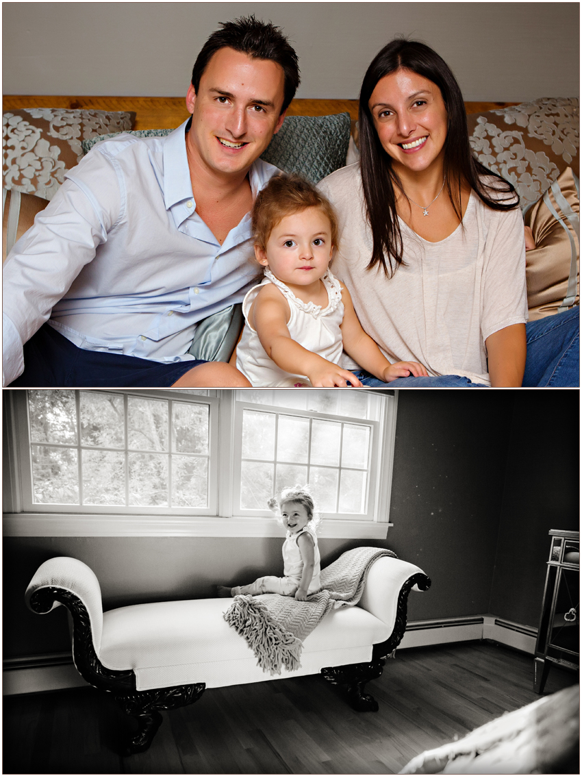 Waxhaw Family Photographer Carolyn Ann Ryan photographs charming portrait session in home