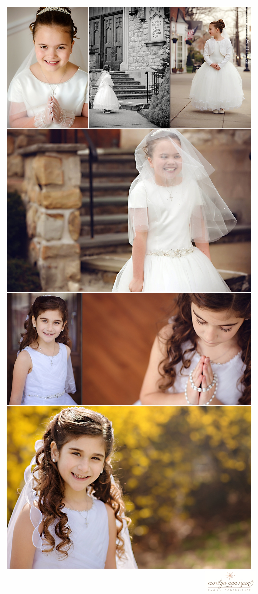 Child and Family Photographer Carolyn Ann Ryan shares First Communion Portraits