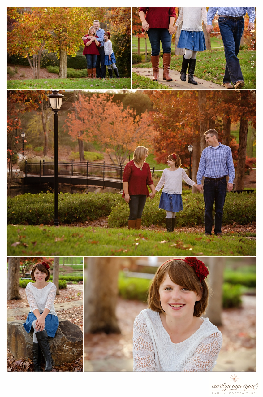 Classic Charlotte NC Family Portrait Session in Ballantyne area