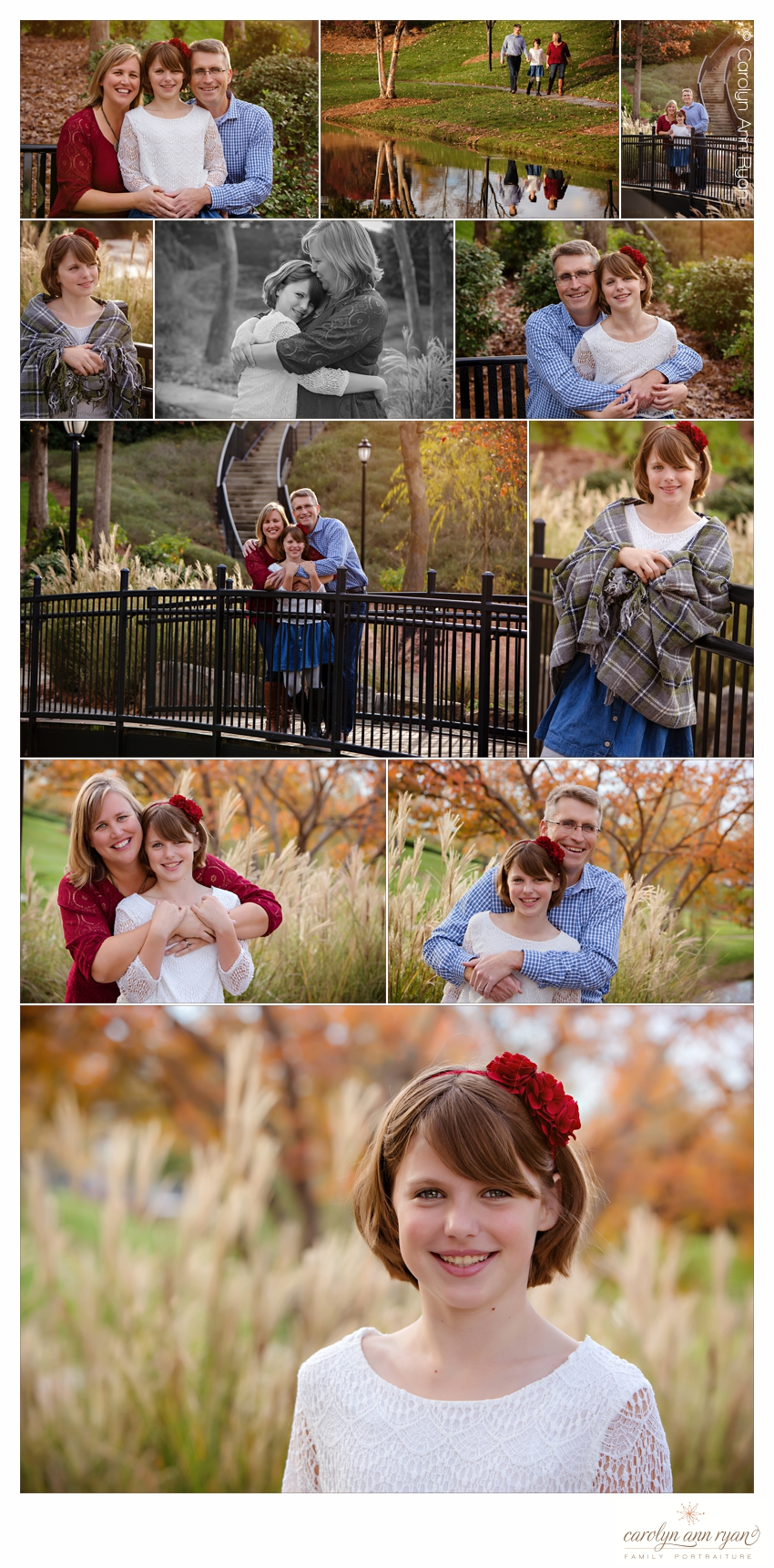 Classic Charlotte NC Family Portraits by Carolyn Ann Ryan Photography