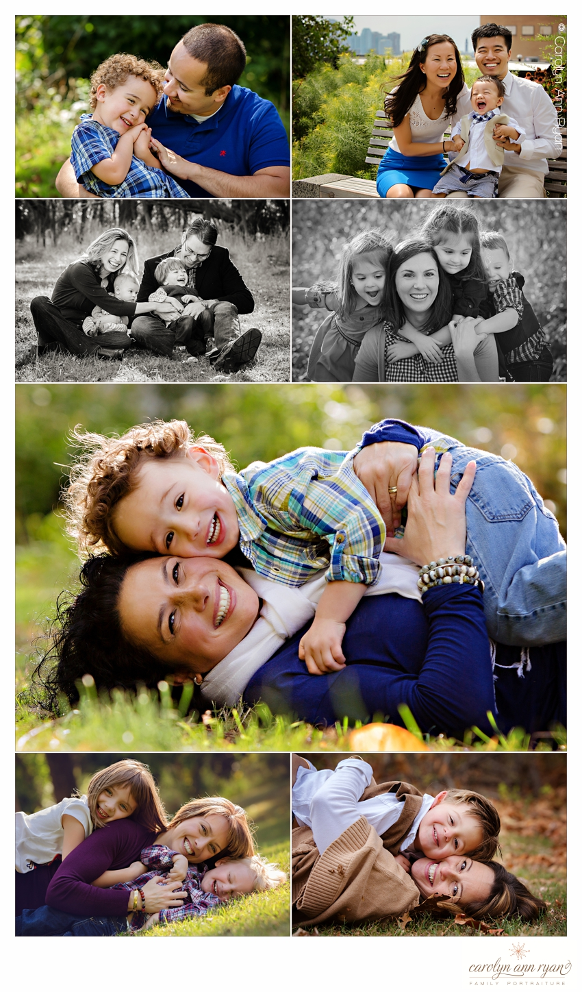 Experienced Waxhaw NC Family Photographer keeps children happy by encouraging tackling of parents