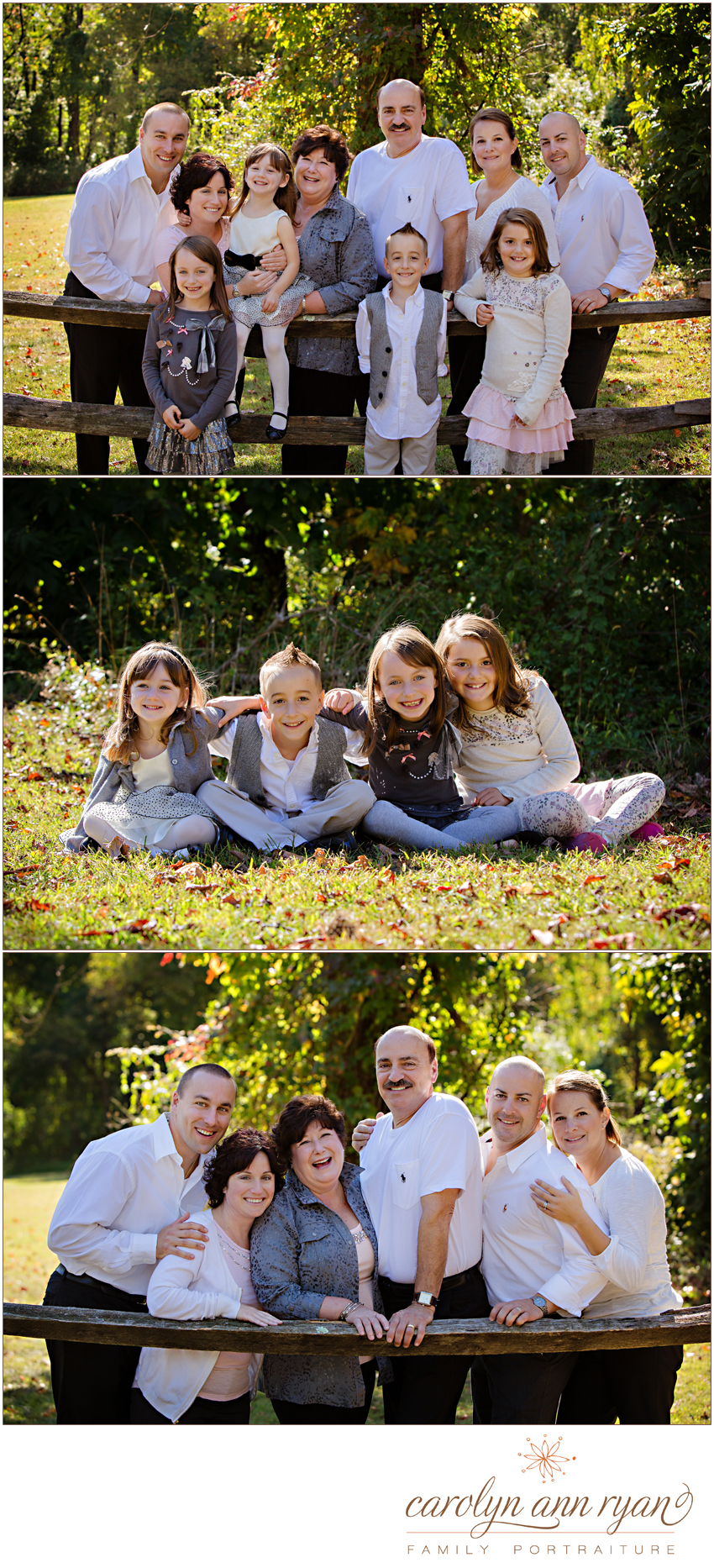 Vintage Charlotte, North Carolina Extended Family Portrait Session