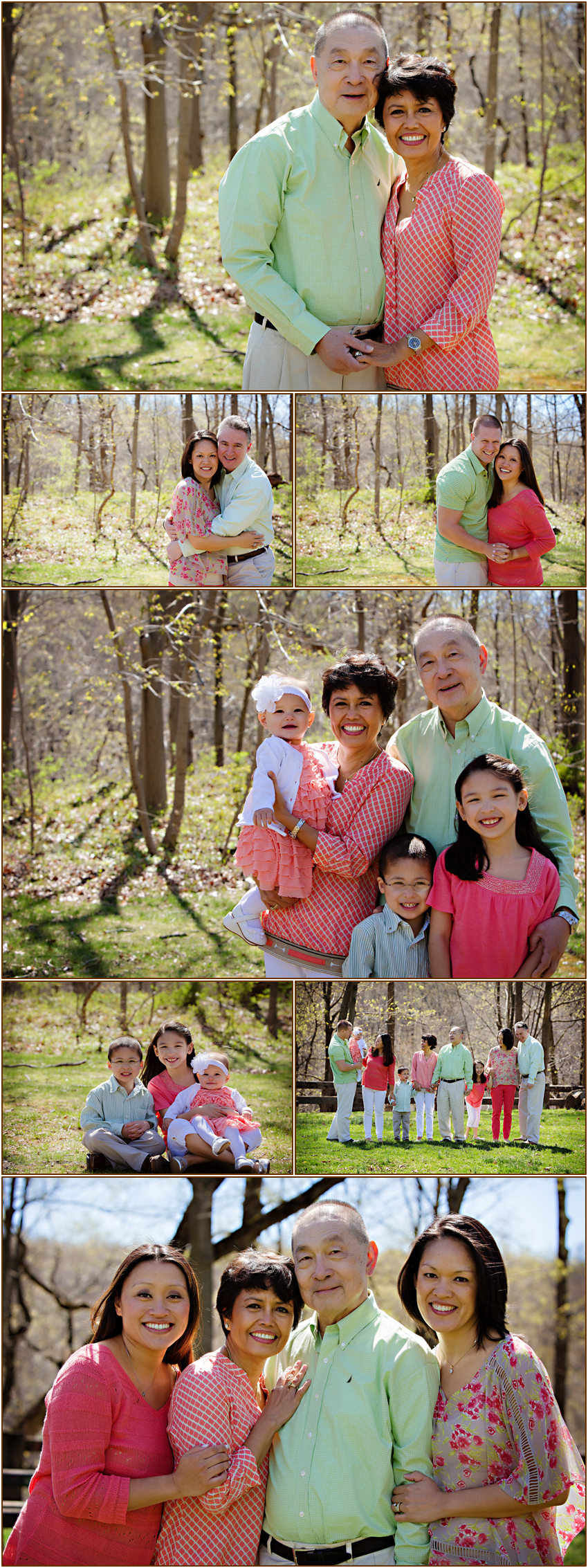 Charlotte, NC Family Photographer captures extended family portraits for Spring