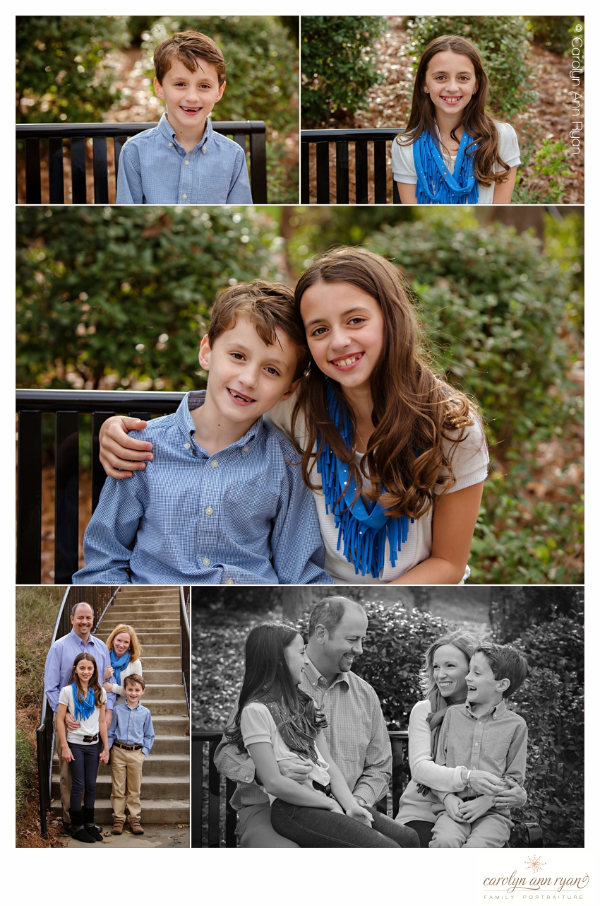 Charlotte NC Family Photographer, Carolyn Ann Ryan, photographs family in Fall Portrait Session
