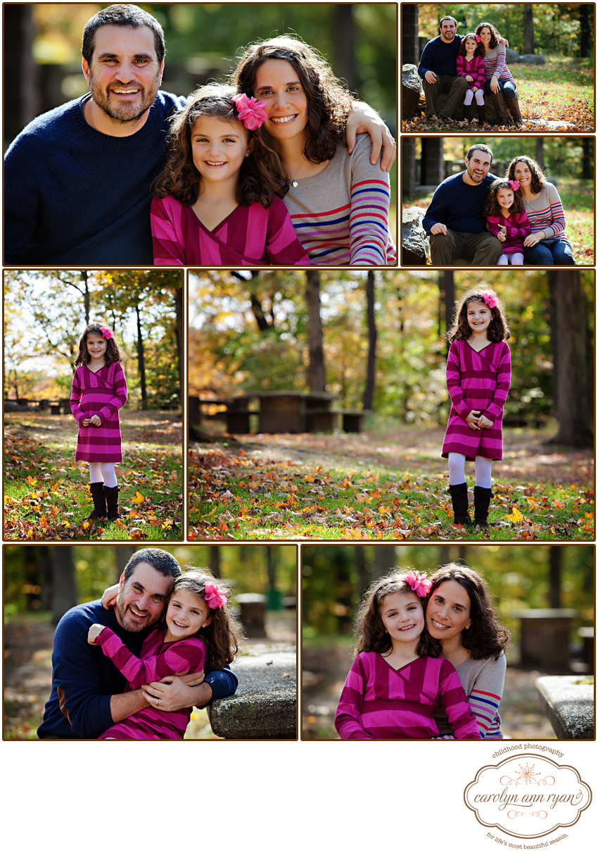 Charlotte, NC Family Photographer capturing Fall Family Portrait Sessions