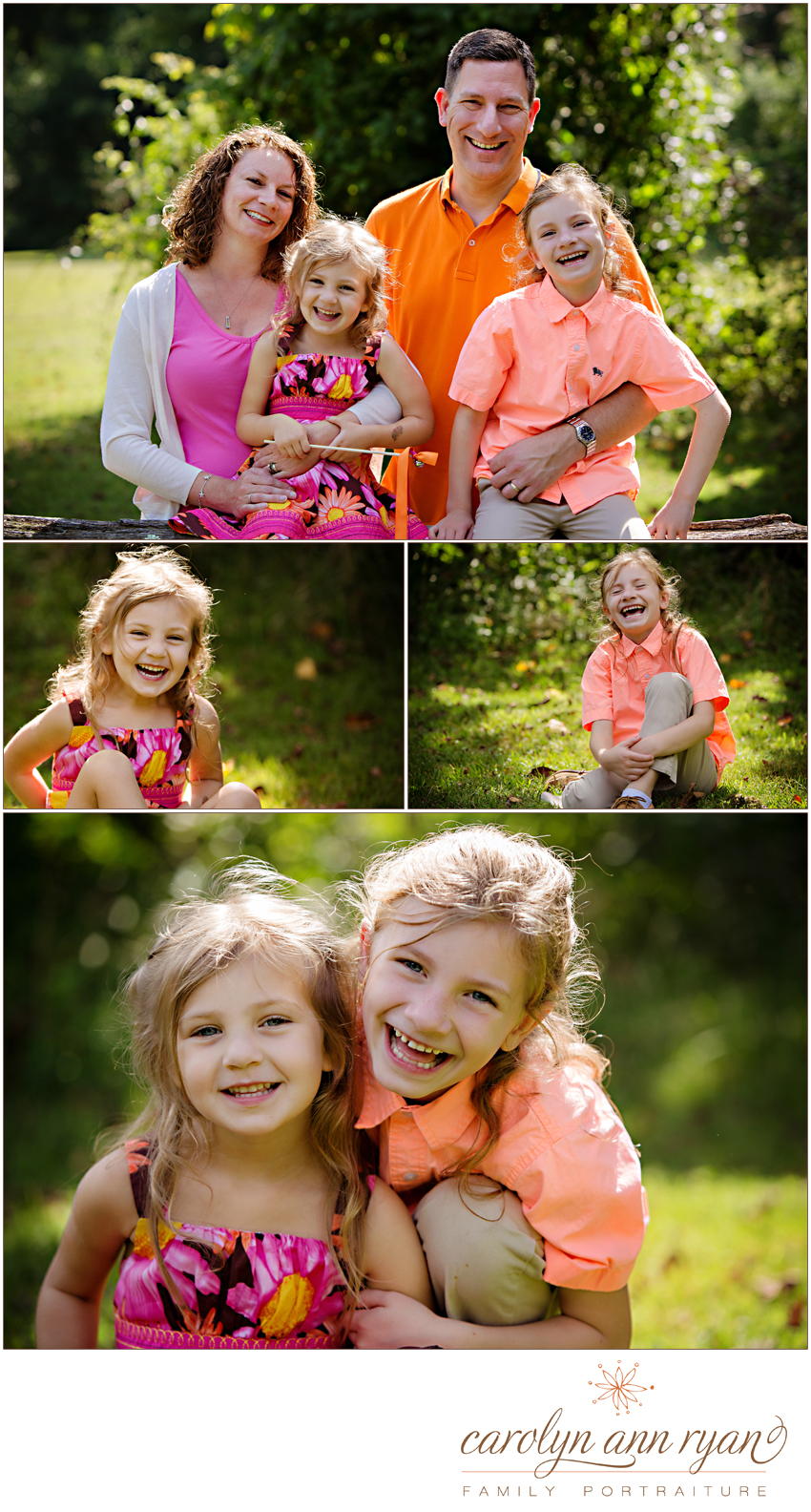 Sunny Family Portraits by Marvin, North Carolina Family Photographer