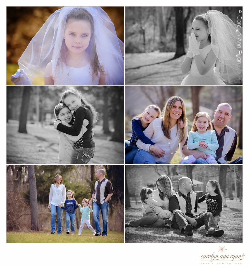 First Communion Portraits by Carolyn Ann Ryan in Charlotte NC