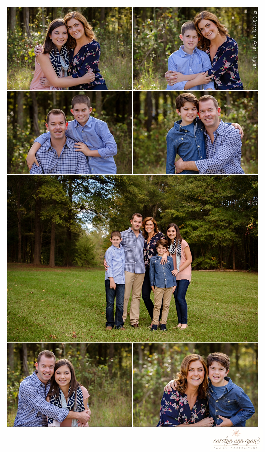 Marvin Family Photographer Carolyn Ann Ryan photographs classic family portrait session
