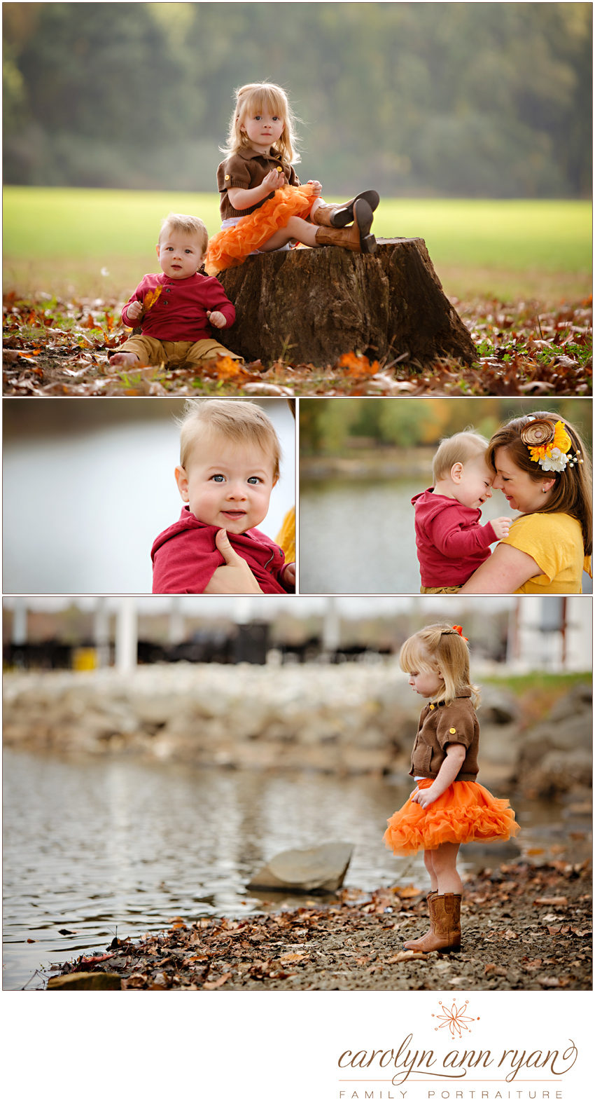Dreamy Waxhaw, NC Family Portraits by Carolyn Ann Ryan with Thanksgiving Theme