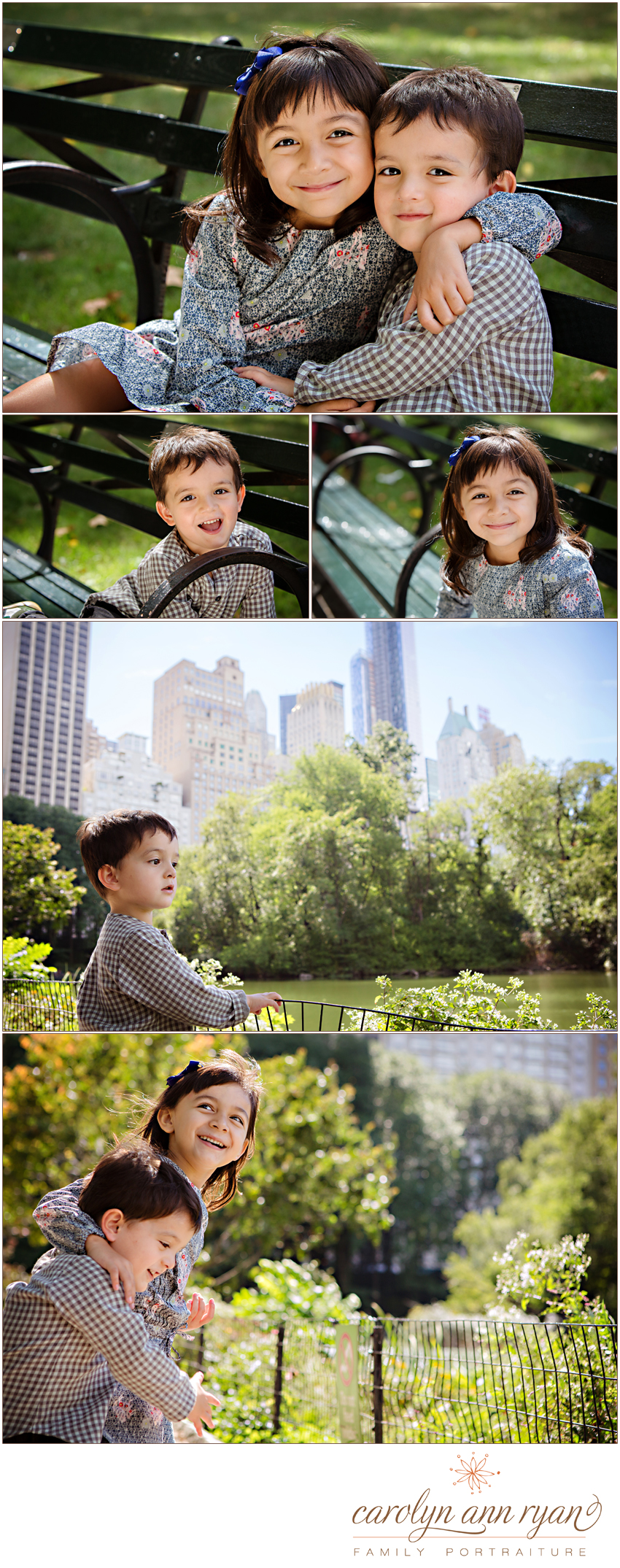 Stylish Uptown Charlotte Family Photographs shares sibling portraits