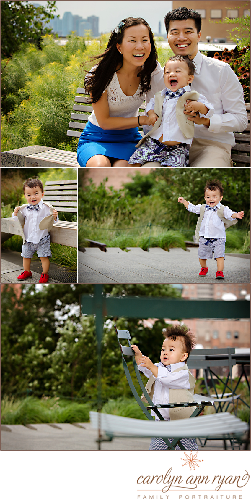 Charlotte Metro Family Photographer photographs adorable cutie pie and his family