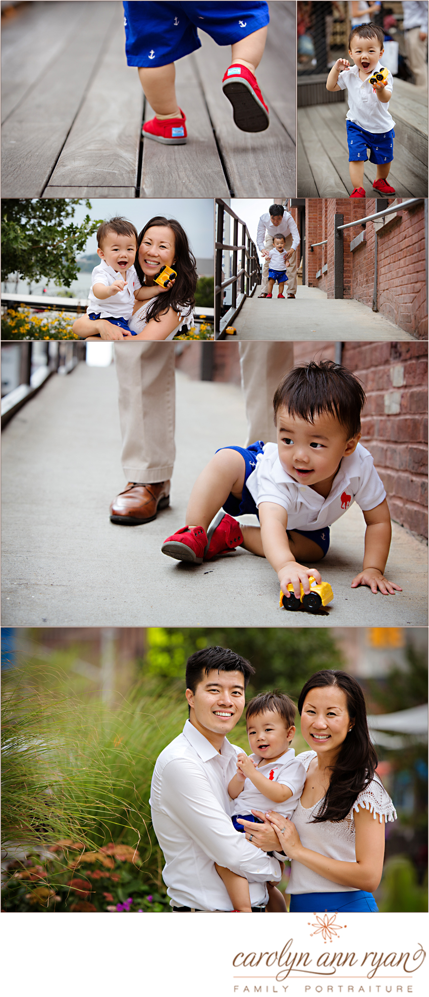 Charlotte Metro Family Photographer Carolyn Ann Ryan shares cute family portraits