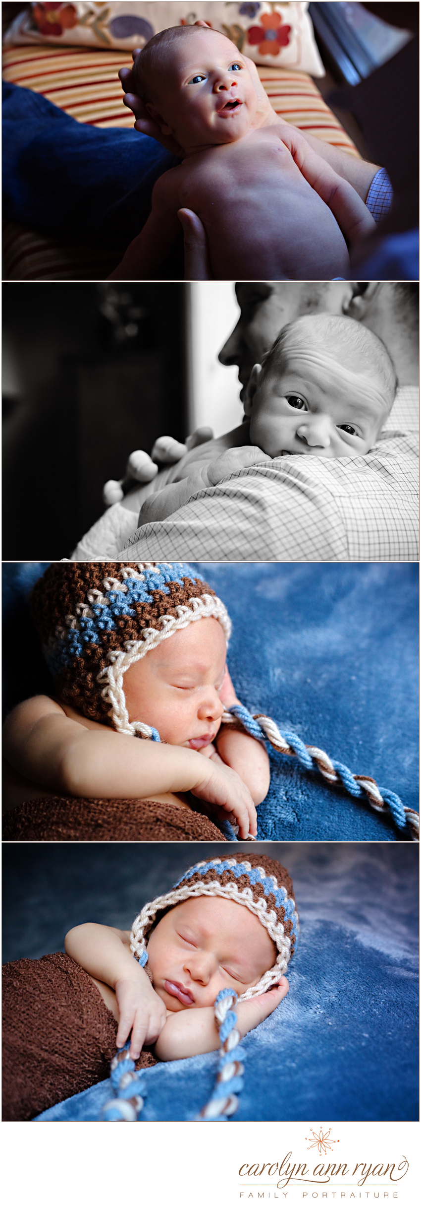 newborn portraits photographed by family and child photographer Carolyn Ann Ryan