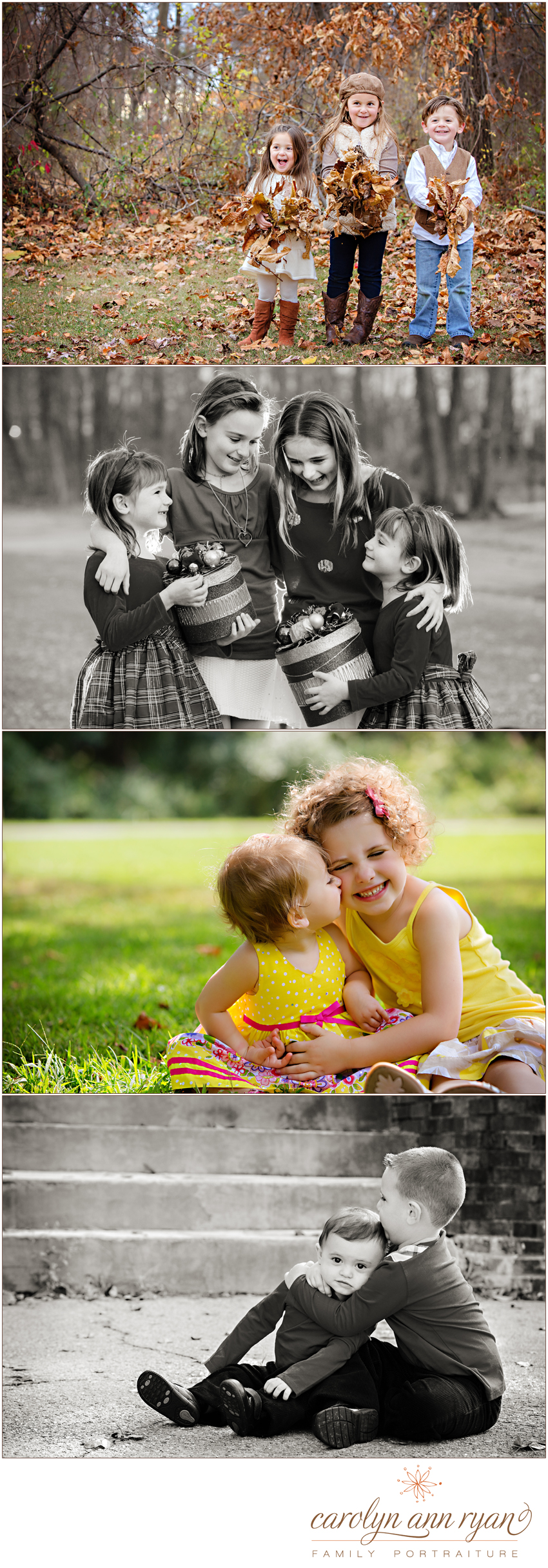 Charlotte, NC Sibling Photographer Carolyn Ann Ryan shares favorite sibling portraits