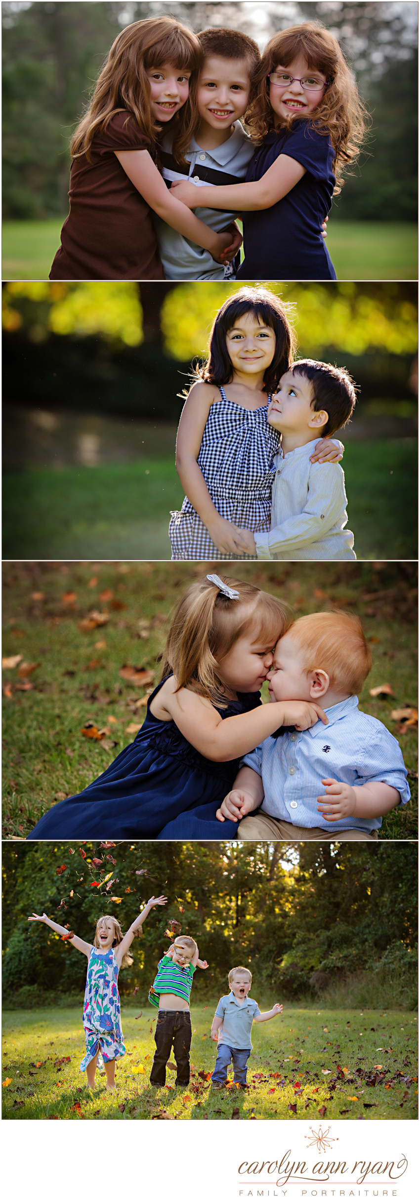 Charlotte, NC Sibling Photographer shares adorable portraits of brothers and sisters