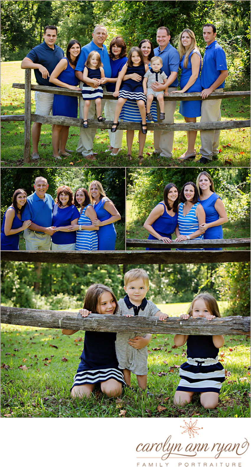 Classic Marvin, NC Family Portraits of an extended family for an anniversary celebration