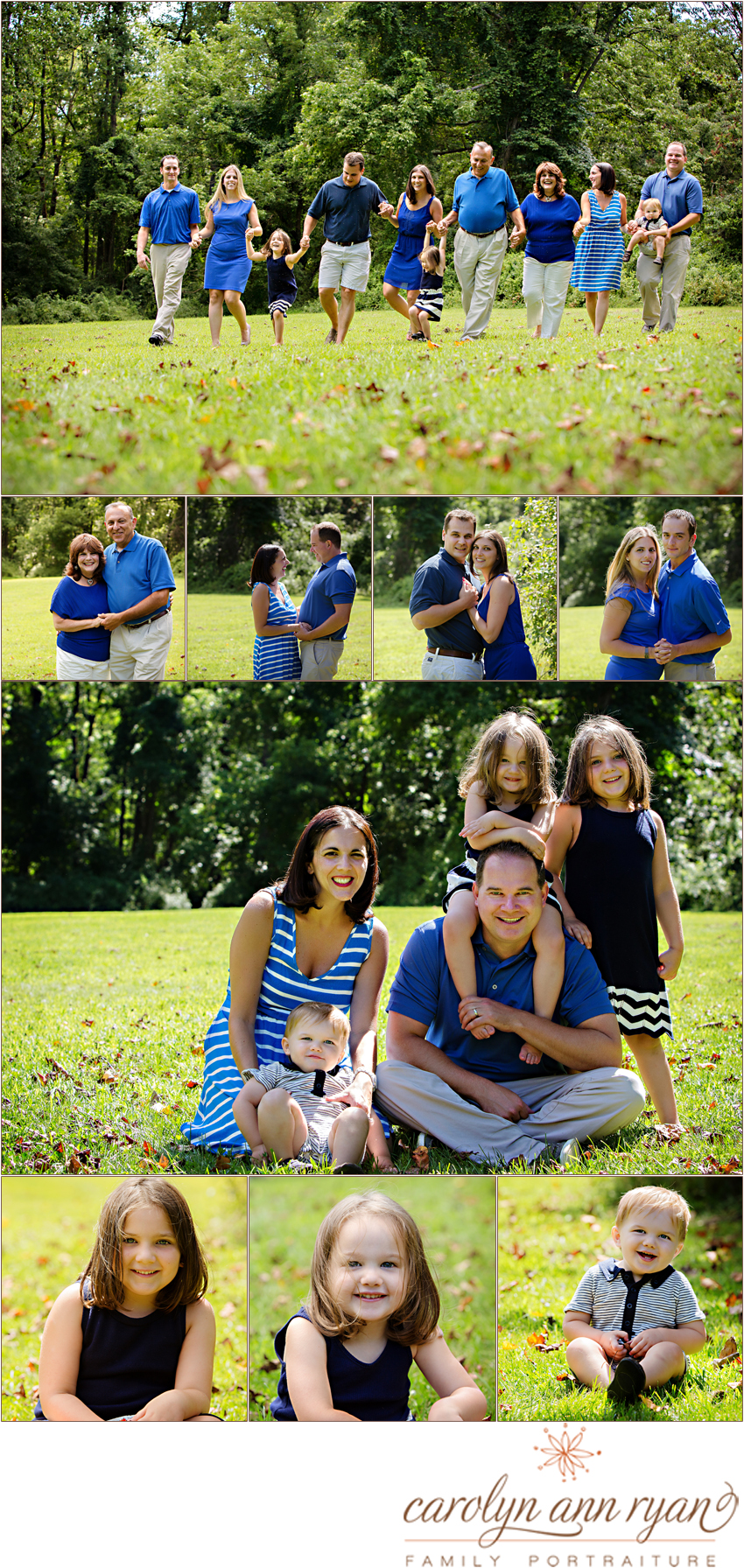 Marvin, North Carolina Classic Extended Family Portrait Session