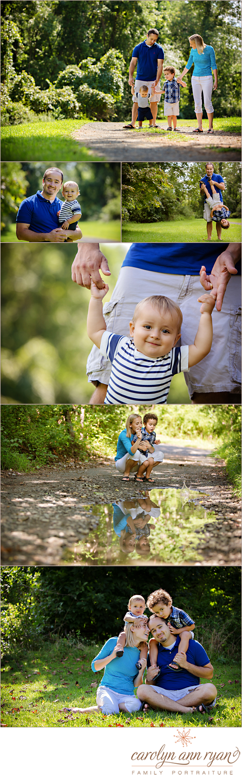 Professional North Carolina Family Portrait Session with Carolyn Ann Ryan