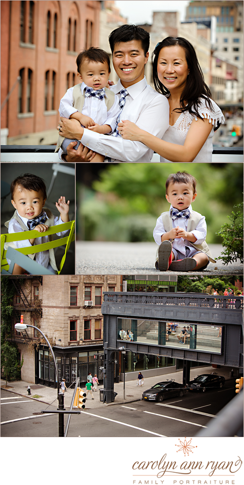 Charlotte Metro Family Photographer features urban uptown family portrait session