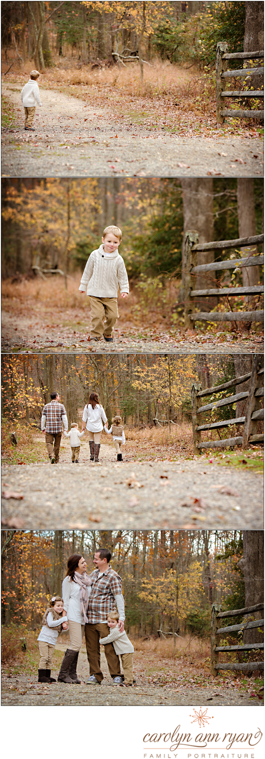 Marvin NC Family Photographer Carolyn Ann Ryan photographs an adorable Fall family session