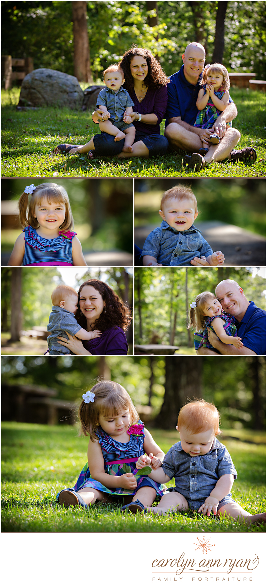 Darling Charlotte, NC Family Portrait Session in Summer with Carolyn Ann Ryan